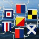 "Nautical Navy Signal Flags ""Welcome"" Banner"