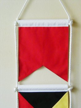 bz vertical signal flag banner well done