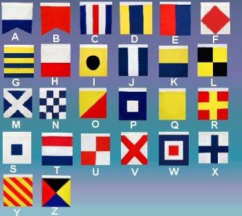 ib designs usa signal flag alphabet