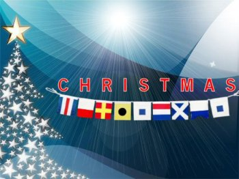 christmas banner signal flags nautical holiday