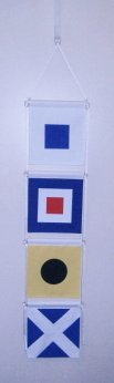 swim banner door nautical signal flags
