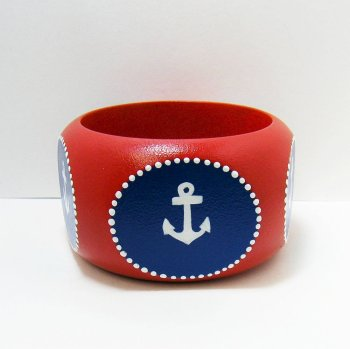 bangle bracelet nautical anchor jewlery