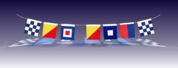 signal flags,open business